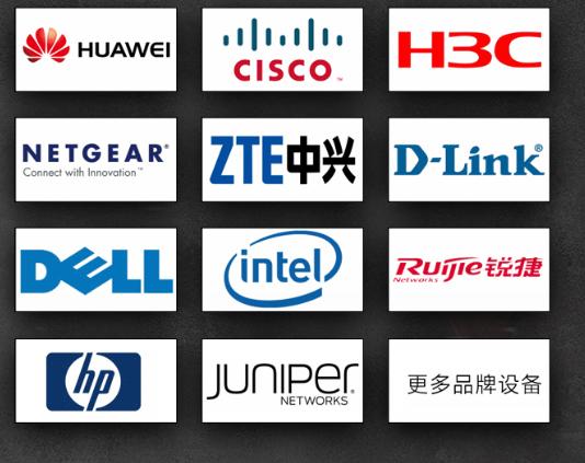华为 思科 H3C 中兴 Netgear Dlink Dell Intel 锐捷 HP Juniper 更多