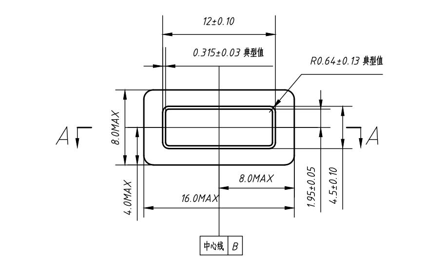 线缆A端插头接口机械结构