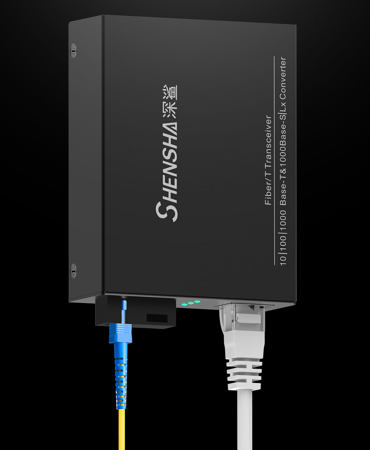 深鲨 光纤收发器 fiber transceiver 10/100/1000 Base-T & 1000Base-S/L*converter